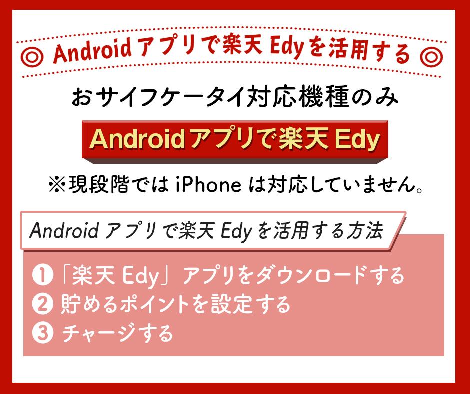 Androidアプリで楽天Edyを活用する
